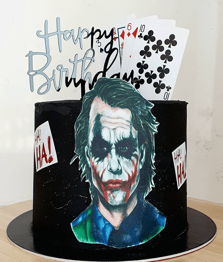 Wonderful Joker Cake Design