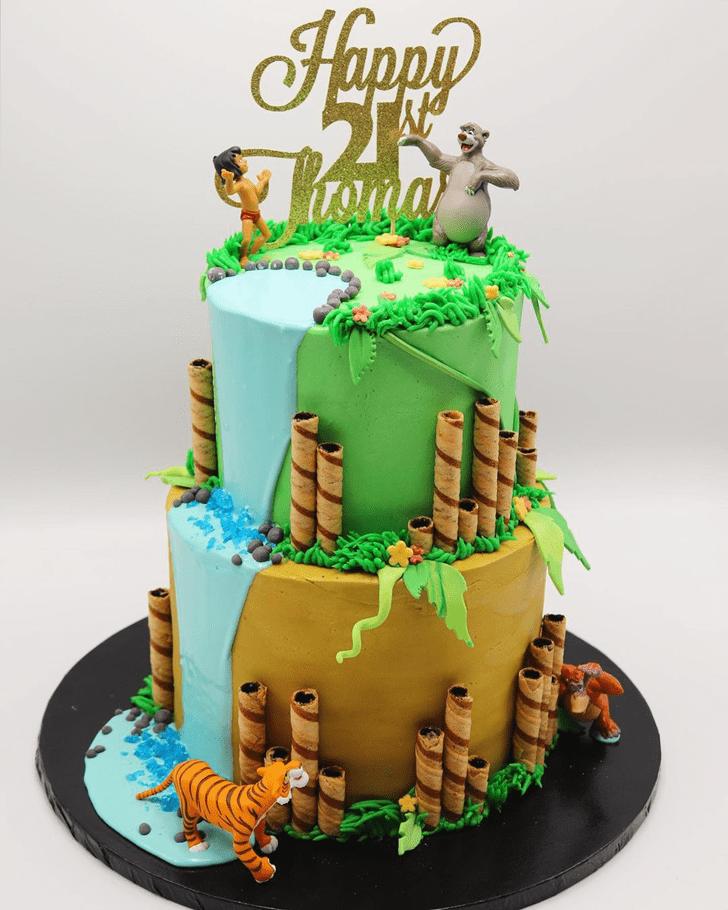 Captivating Jungle Book Cake