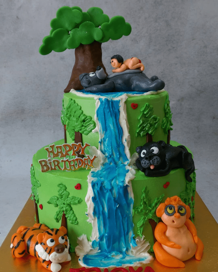 Charming Jungle Book Cake