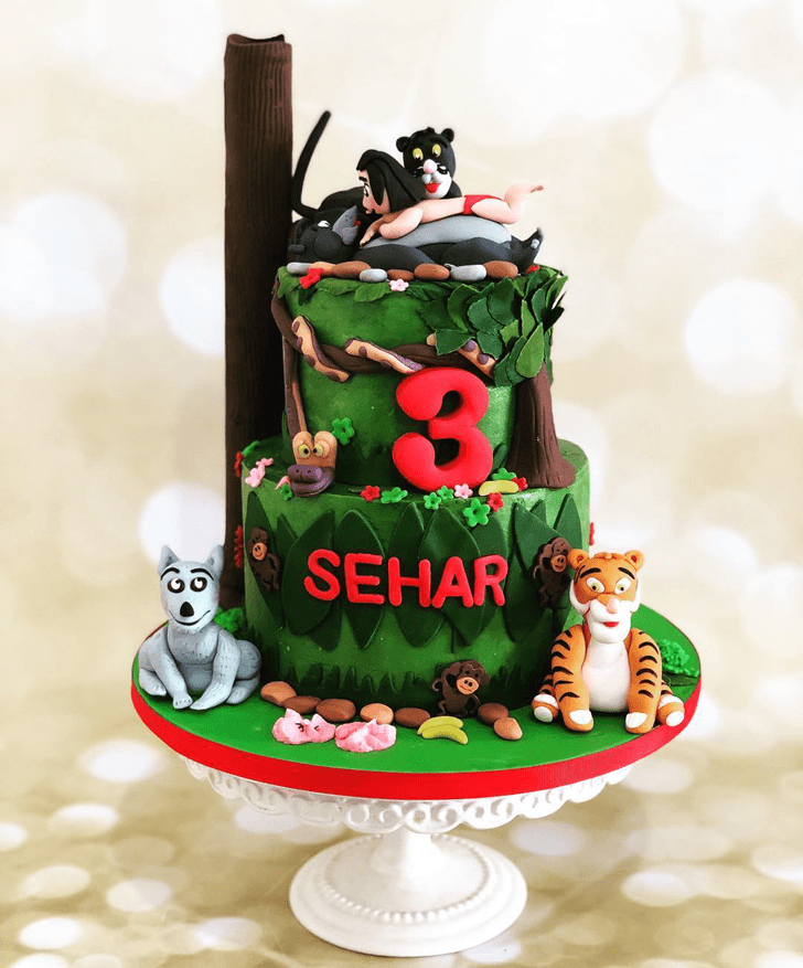 Enthralling Jungle Book Cake
