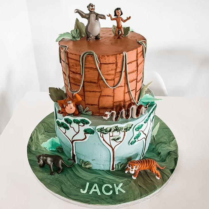 Inviting Jungle Book Cake