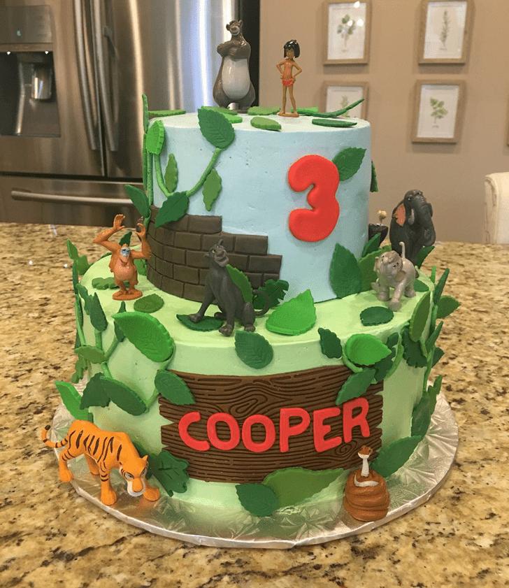 Lovely Jungle Book Cake Design