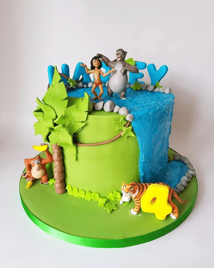 Pleasing Jungle Book Cake