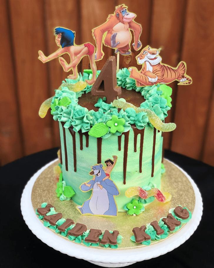 Pretty Jungle Book Cake