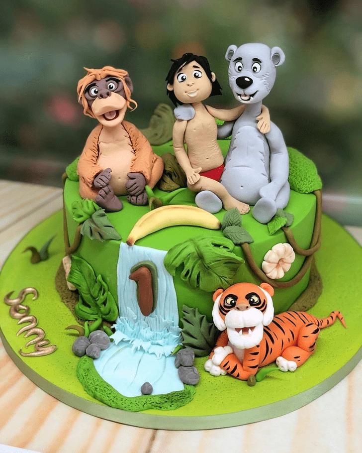Radiant Jungle Book Cake