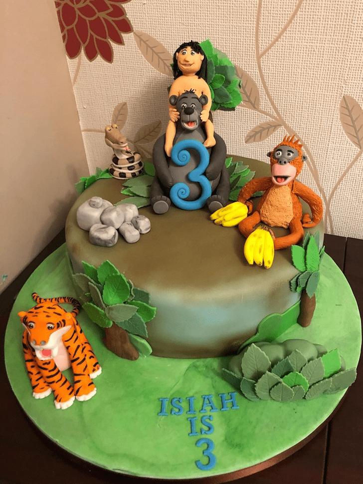 Refined Jungle Book Cake