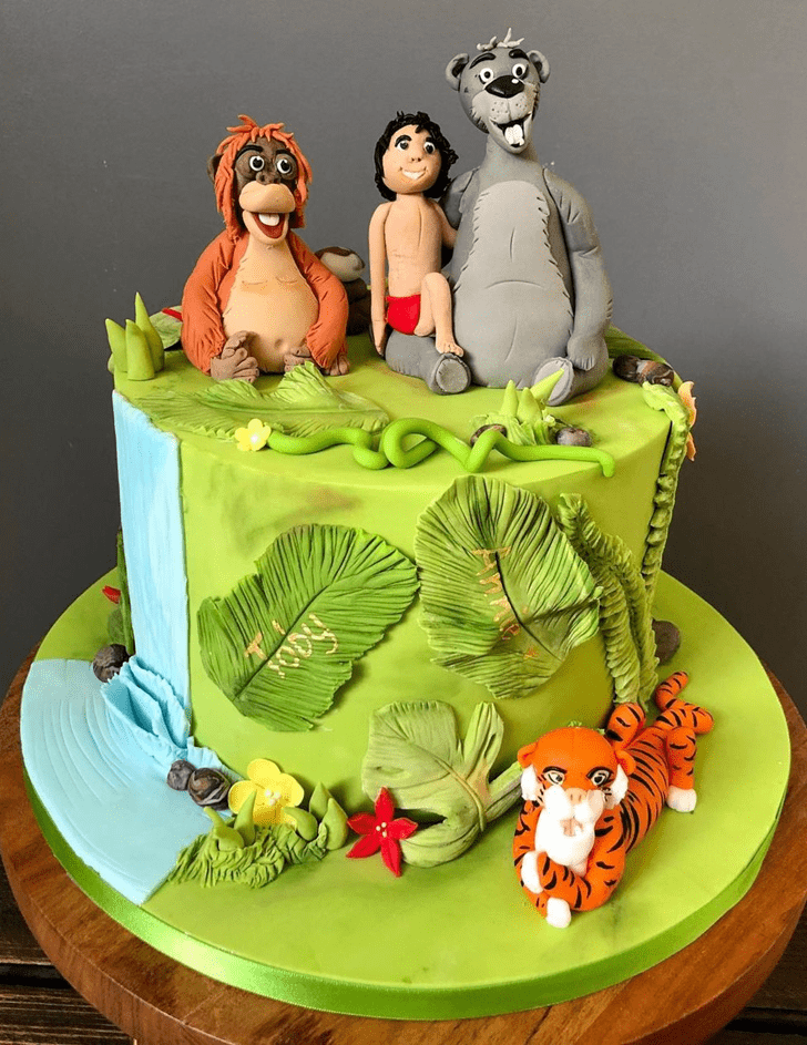Resplendent Jungle Book Cake