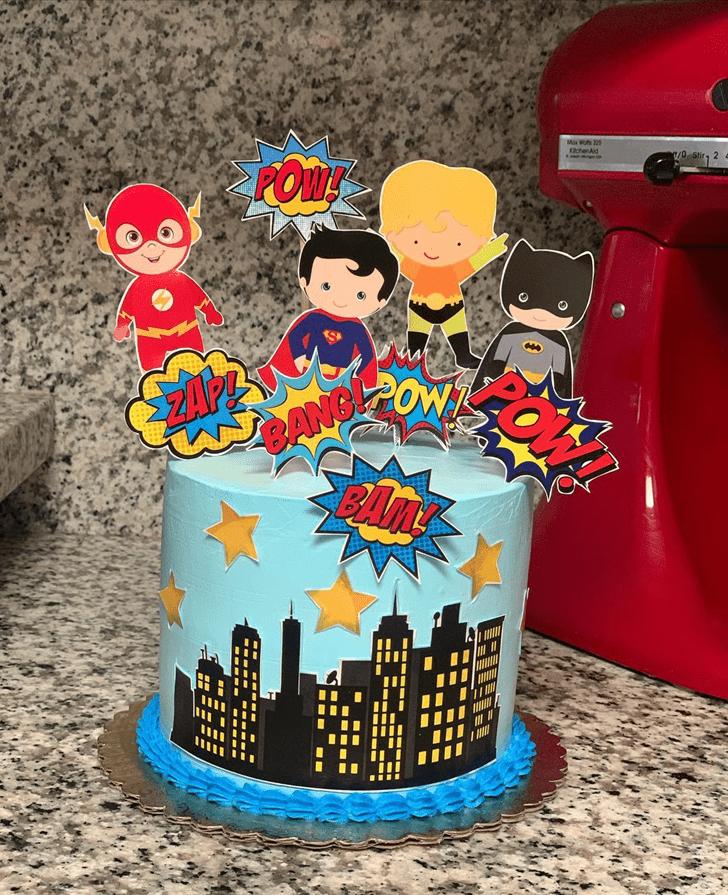 Admirable Justice League Cake Design