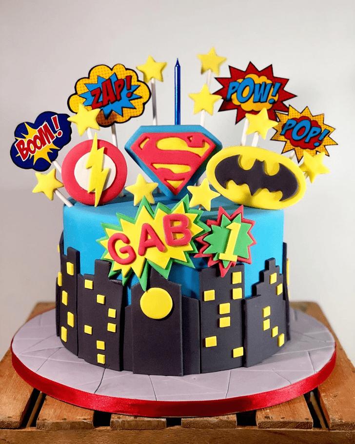 Adorable Justice League Cake