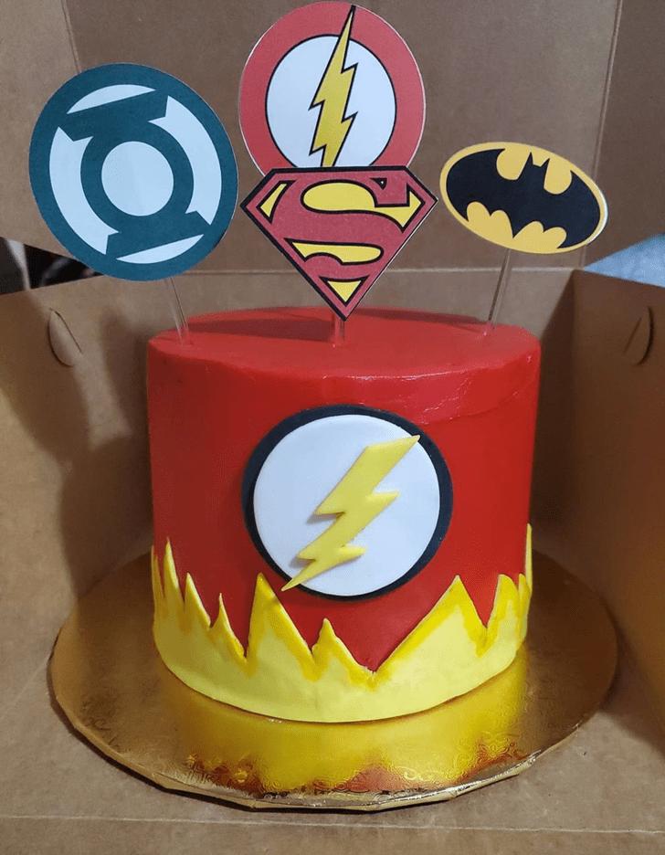 Alluring Justice League Cake
