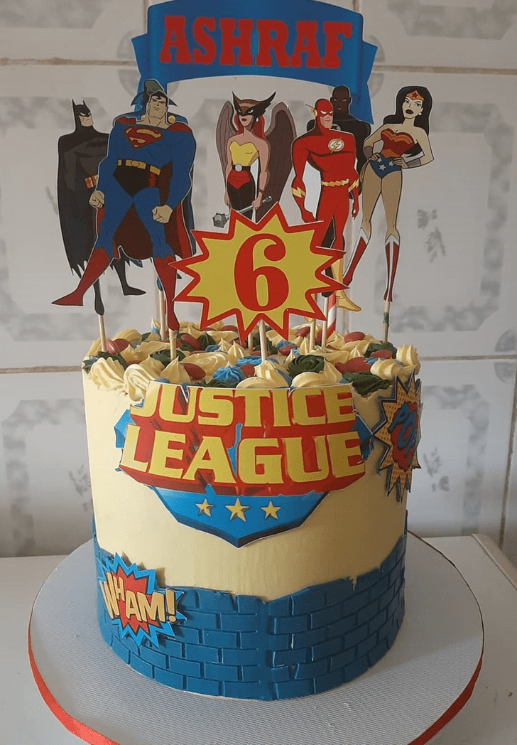 Angelic Justice League Cake