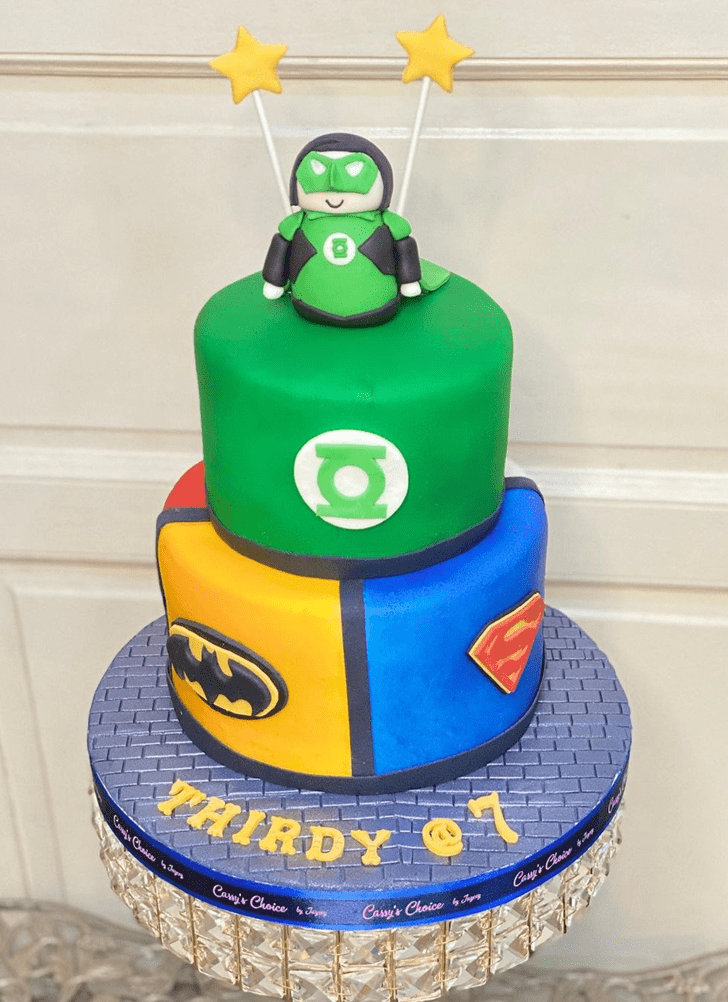 Charming Justice League Cake