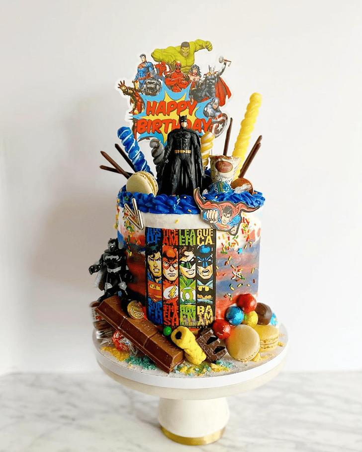 Classy Justice League Cake