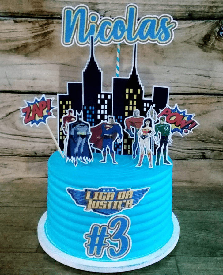 Comely Justice League Cake