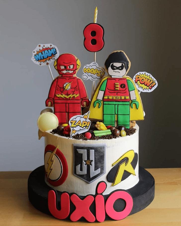 Dazzling Justice League Cake