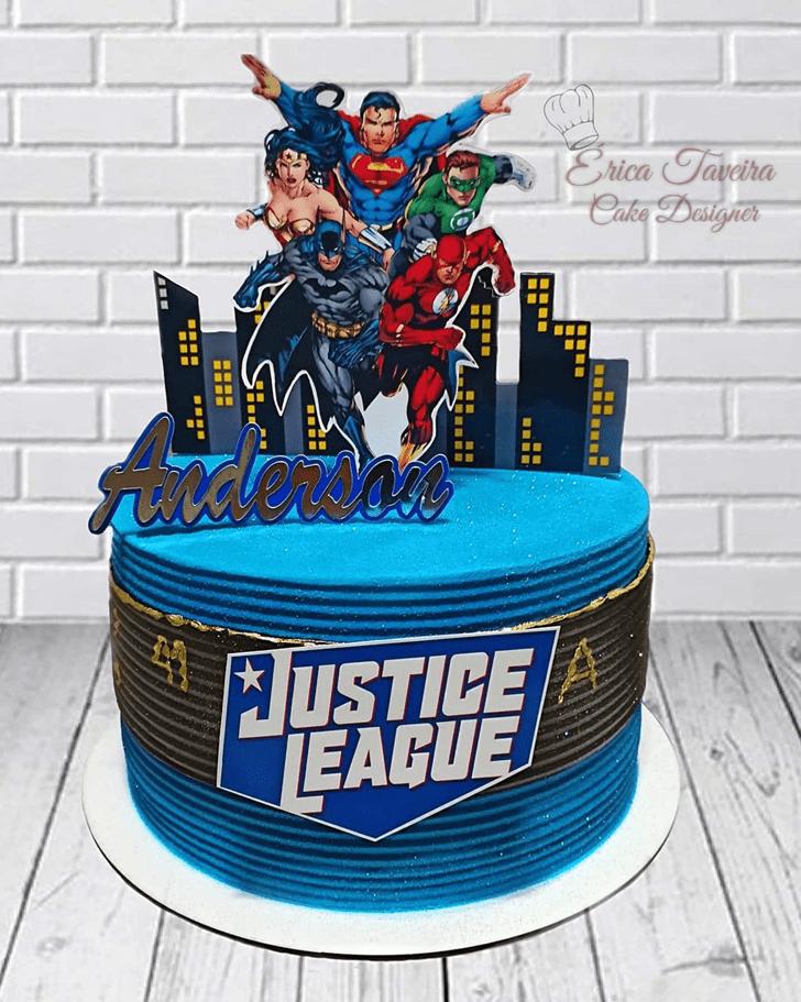 Delicate Justice League Cake