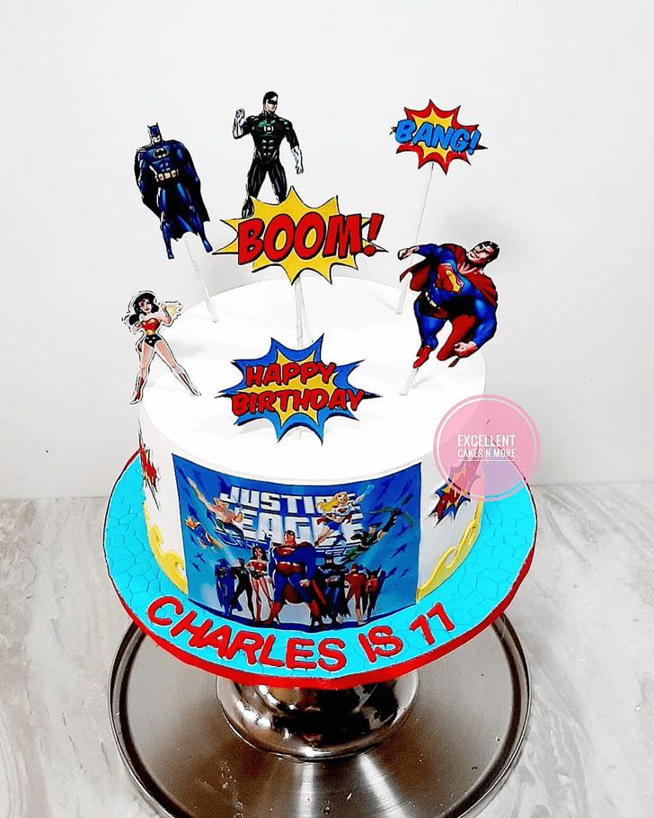 Delightful Justice League Cake
