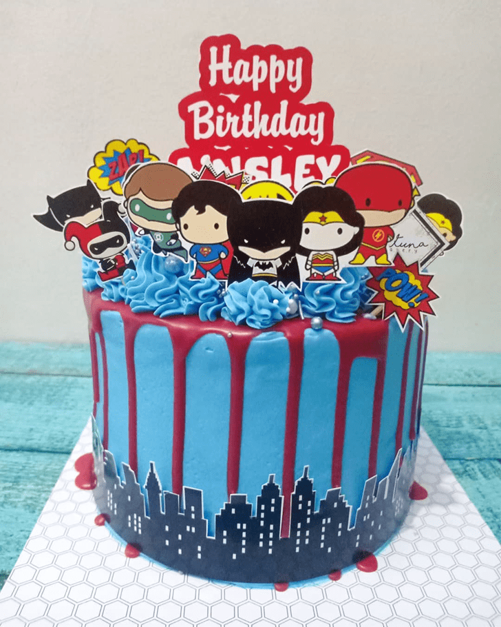 Divine Justice League Cake