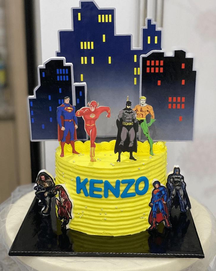 Elegant Justice League Cake