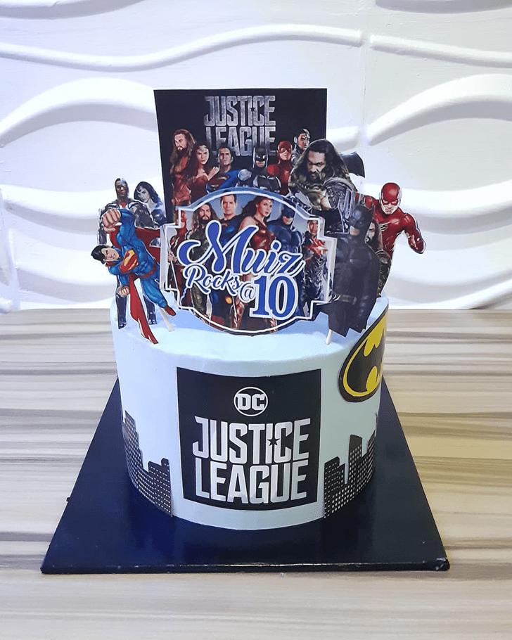 Enticing Justice League Cake