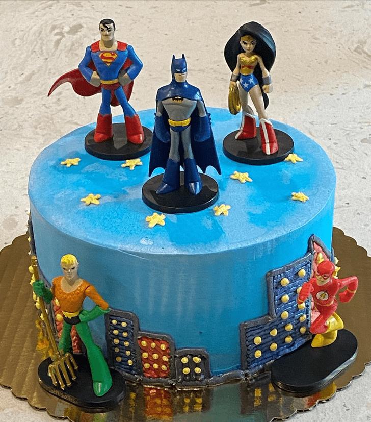 Fascinating Justice League Cake