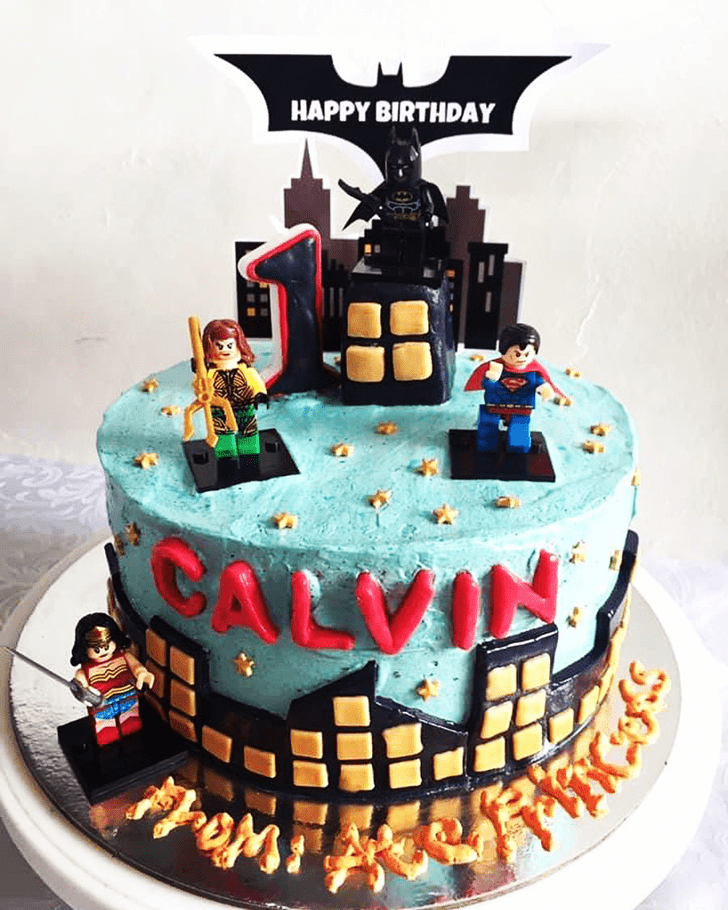 Fetching Justice League Cake