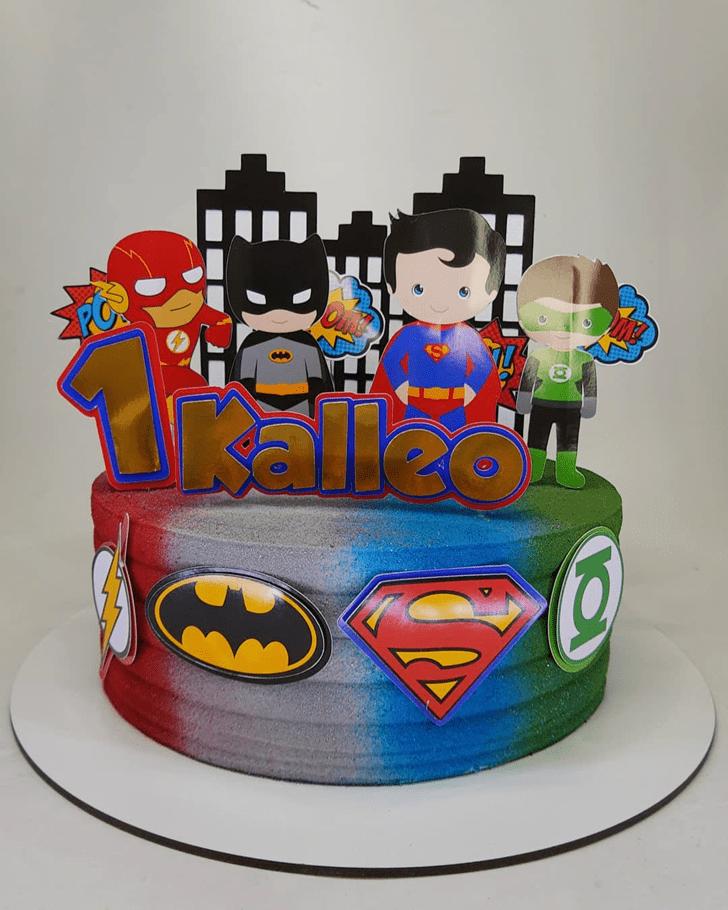 Graceful Justice League Cake