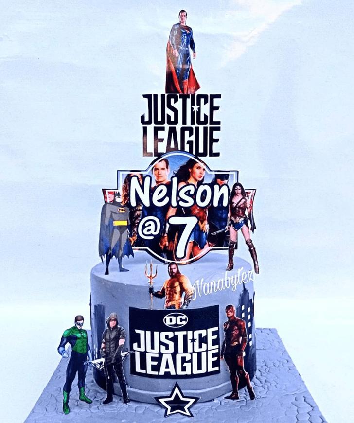 Handsome Justice League Cake