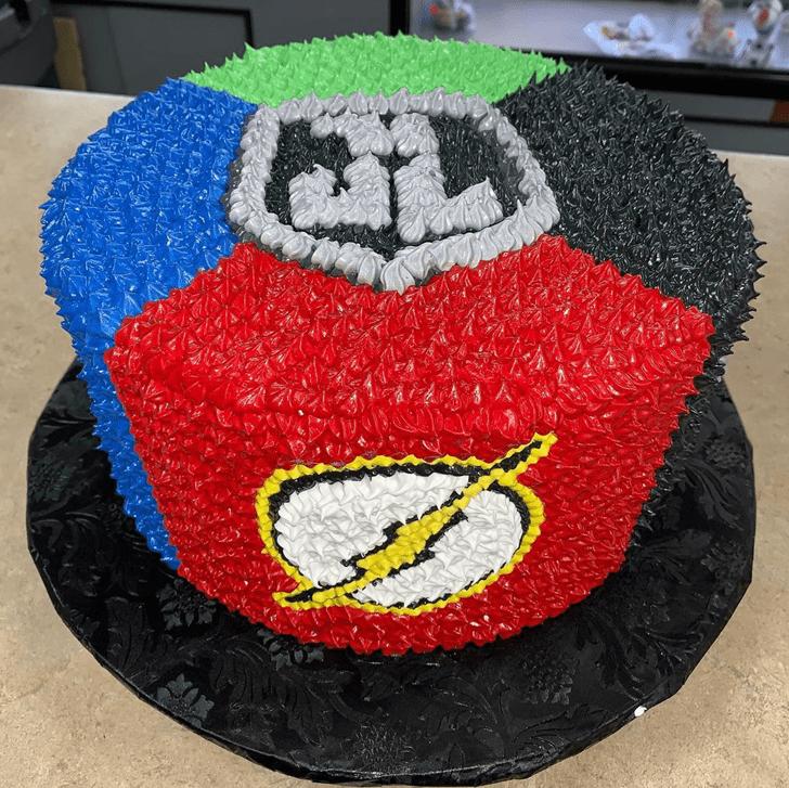 Ideal Justice League Cake