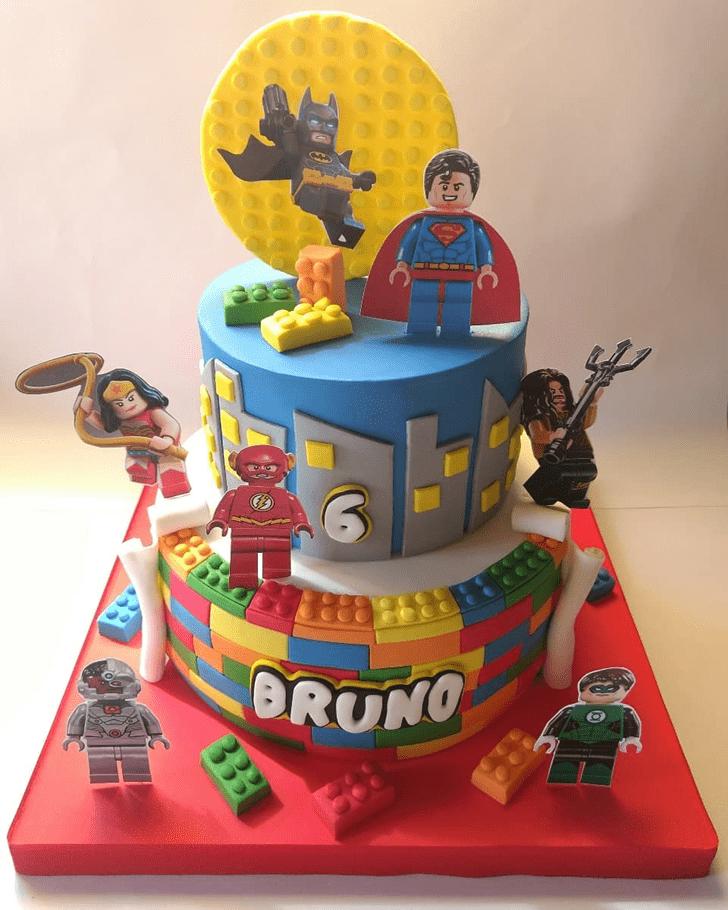 Inviting Justice League Cake