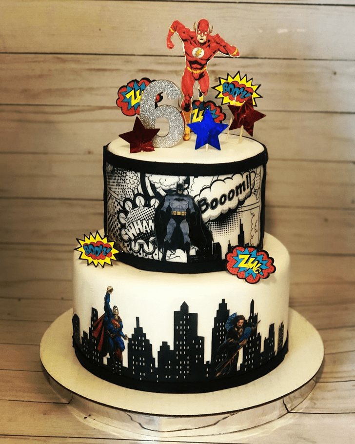 Lovely Justice League Cake Design