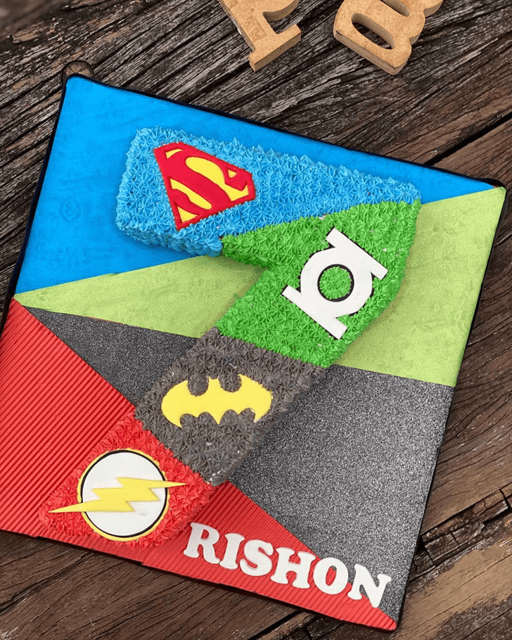 Magnetic Justice League Cake