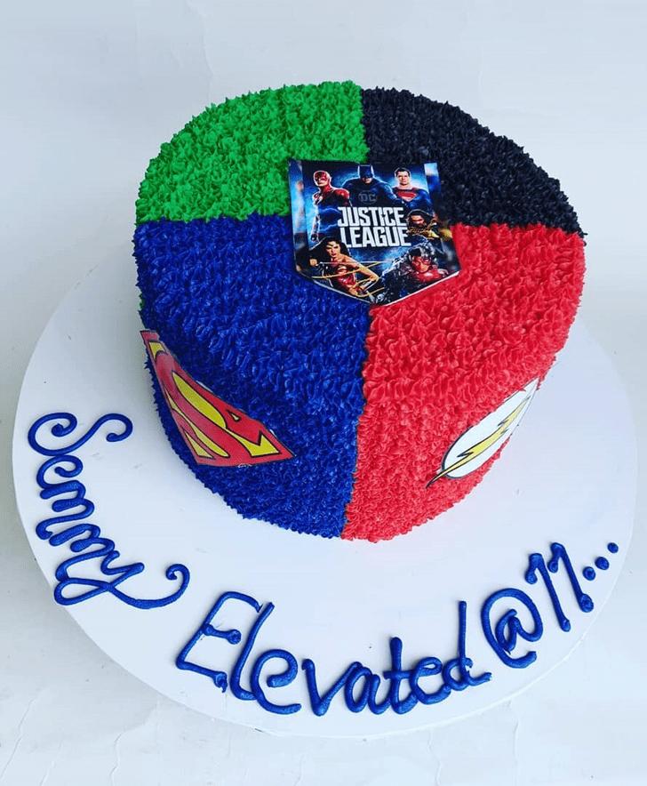 Pretty Justice League Cake