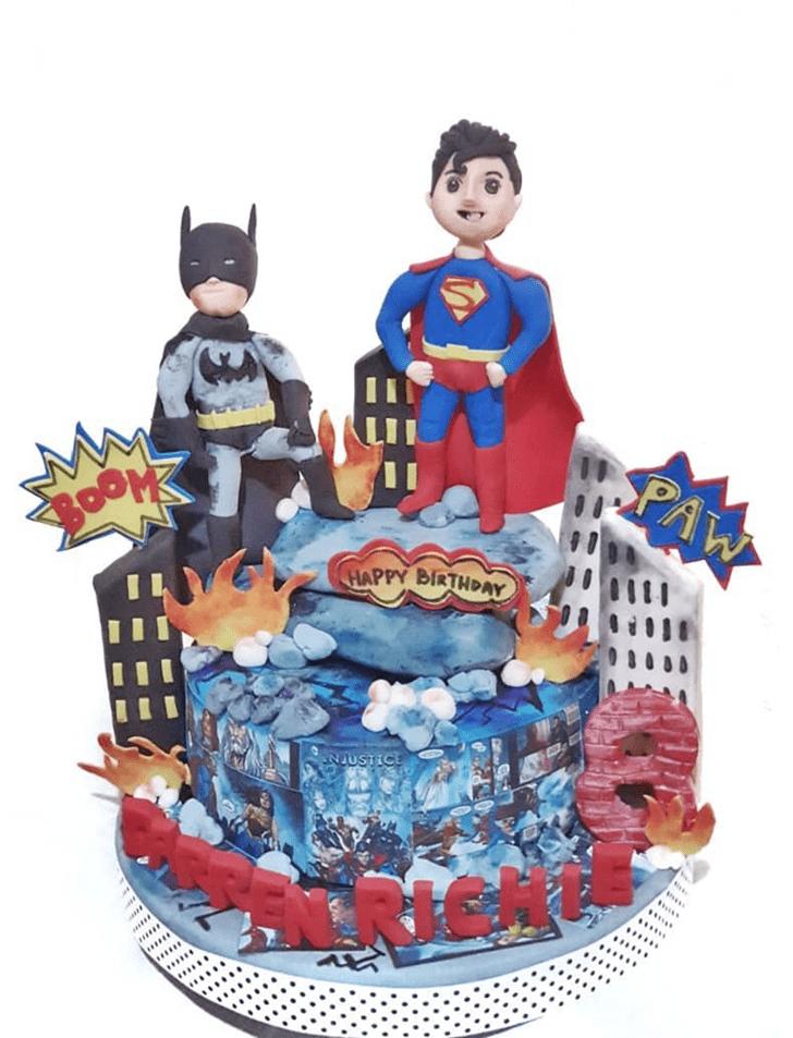 Radiant Justice League Cake