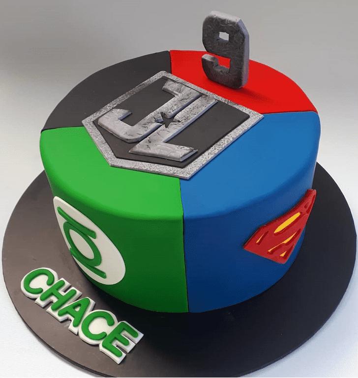 Refined Justice League Cake