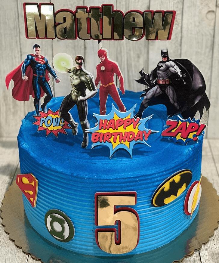 Resplendent Justice League Cake