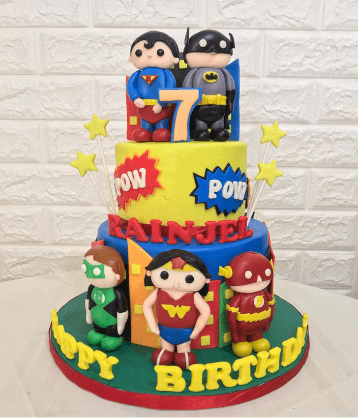 Shapely Justice League Cake