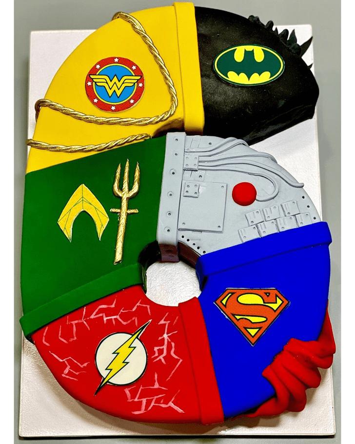 Splendid Justice League Cake