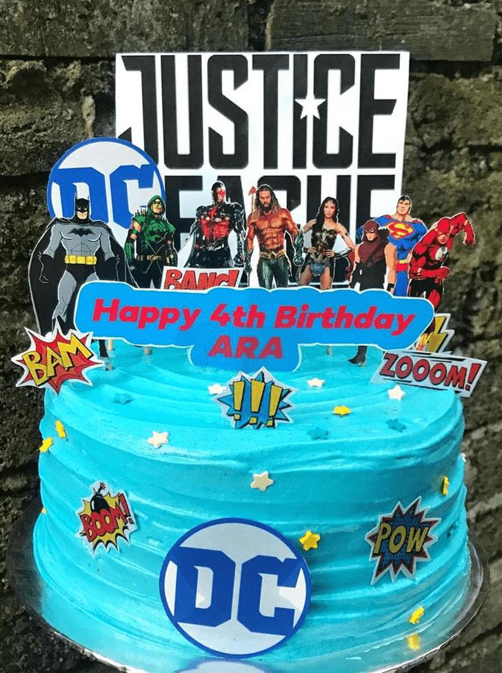 Wonderful Justice League Cake Design
