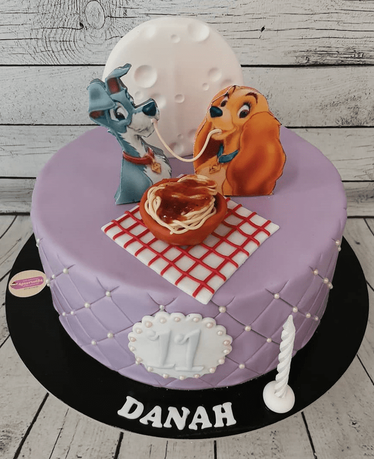 Angelic Lady and the Tramp Cake