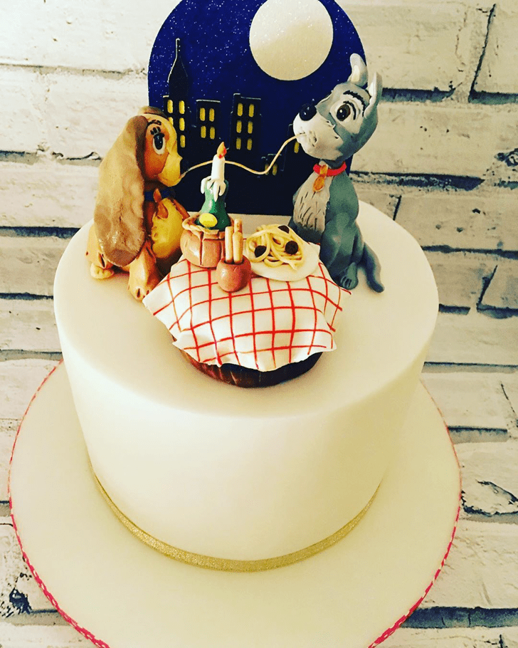 Captivating Lady and the Tramp Cake