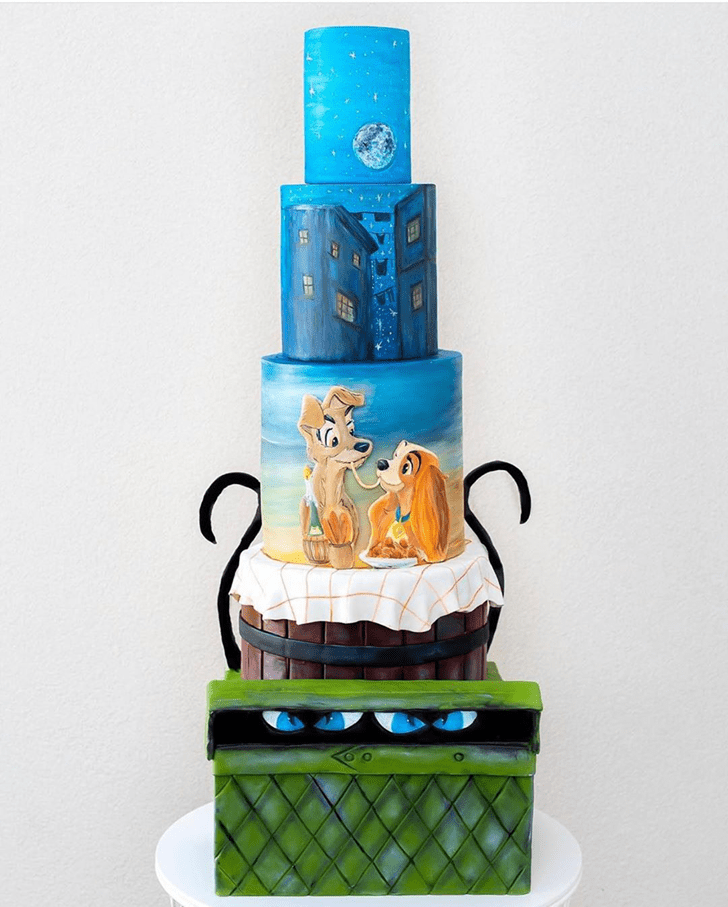 Charming Lady and the Tramp Cake