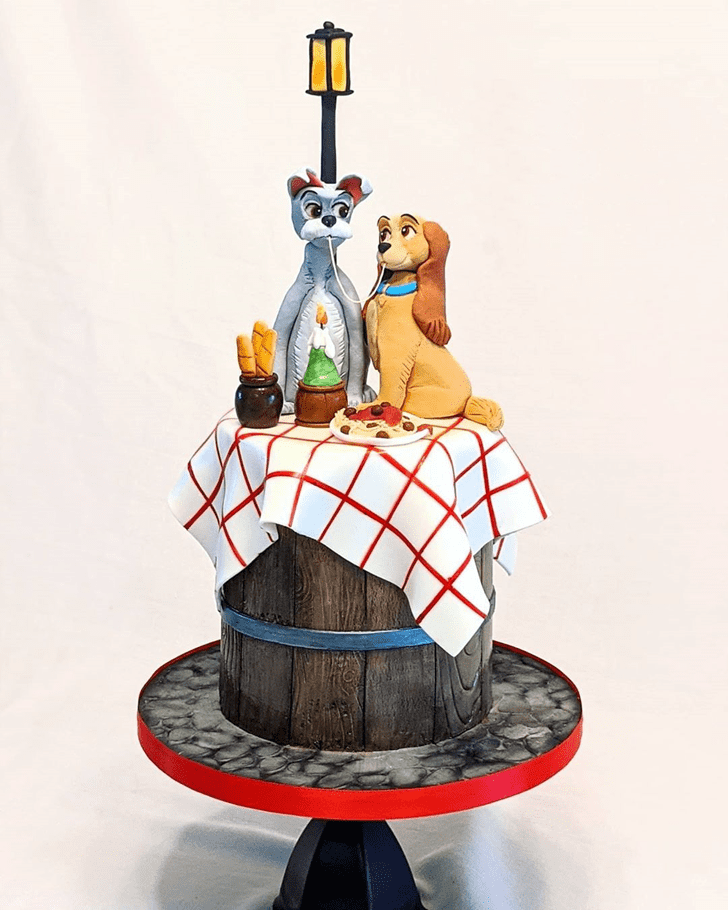Comely Lady and the Tramp Cake