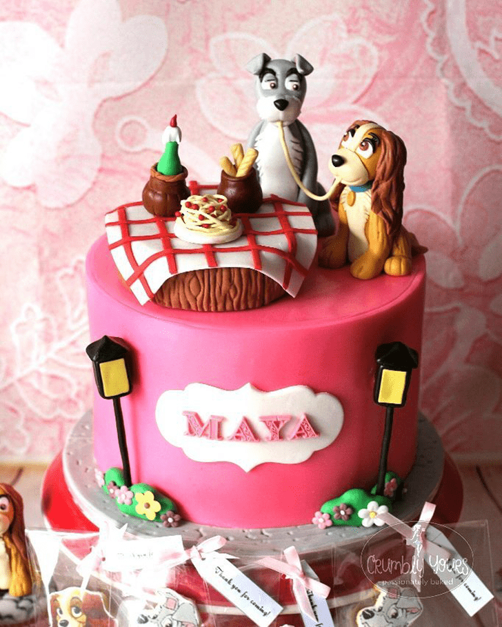Delightful Lady and the Tramp Cake