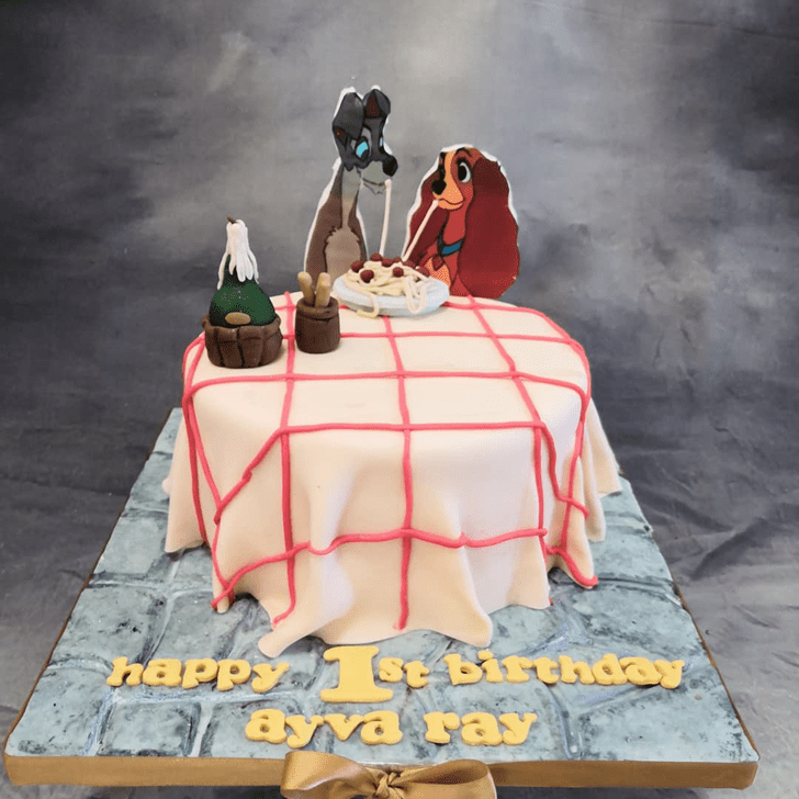 Fair Lady and the Tramp Cake