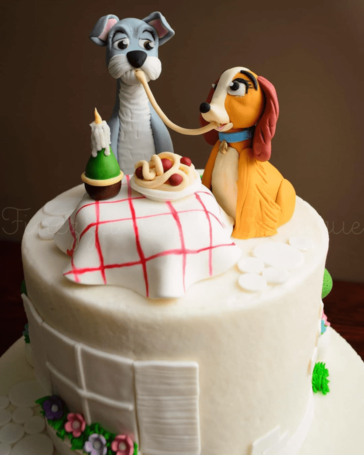Fetching Lady and the Tramp Cake