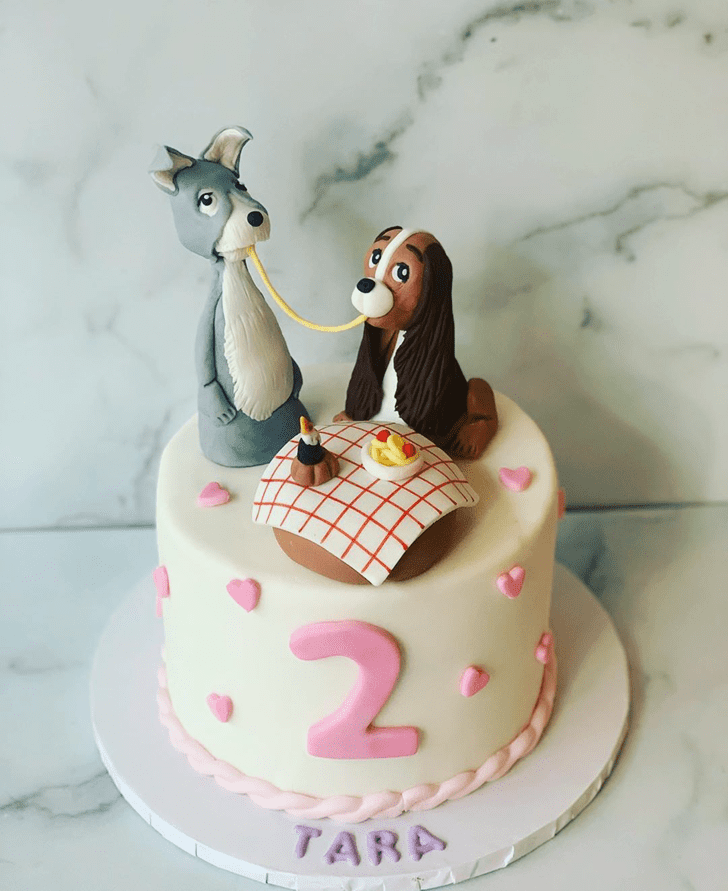 Fine Lady and the Tramp Cake