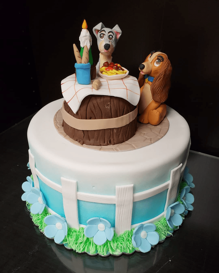 Good Looking Lady and the Tramp Cake