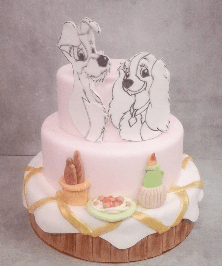 Graceful Lady and the Tramp Cake