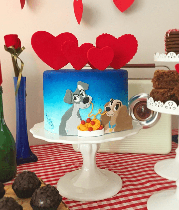 Handsome Lady and the Tramp Cake